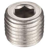 ¼ inch NPT galvanized merchant steel hex head counter sunk plug