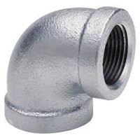 4 inch NPT threaded 90 deg galvanized elbow