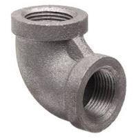 2 inch NPT threaded 90 deg malleable iron elbow