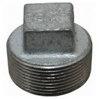 2 ½ inch NPT malleable iron square head plug