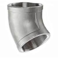 ¼ inch NPT threaded 45 deg 316 Stainless Steel elbow