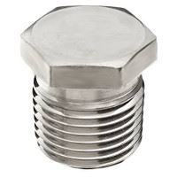 Picture of ½ inch NPT Class 150 316 Stainless Steel hex head plug