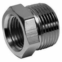 Picture of 1 x ¾ inch NPT 304 Stainless Steel Reduction Bushings