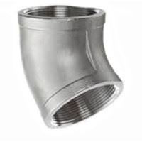 Picture of 3/8 inch NPT threaded 45 deg 304 Stainless Steel elbow