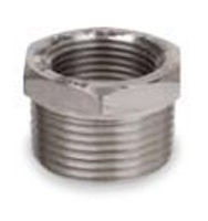 Picture of ¼ x ⅛ inch NPT forged 316 stainless steel class 3000 threaded reducing hex bushing
