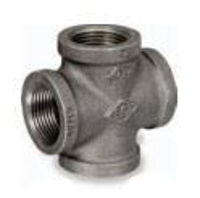 Picture of ½ inch NPT class 150 galvanized malleable iron cross