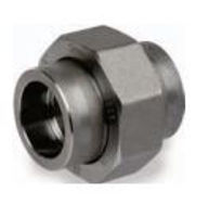 Picture of ¾ inch forged carbon steel socket weld union