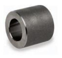 Picture of ¾ inch forged carbon steel socket weld coupling