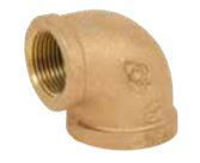 Picture of ¼ inch NPT Threaded Bronze 90 degree elbow