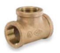 Picture of 1 ¼ inch NPT Threaded Bronze Tee