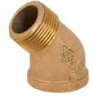 Picture of ⅜ inch NPT Threaded Bronze 45 degree street elbow