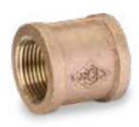 Picture of 3/4 inch NPT threaded bronze full coupling