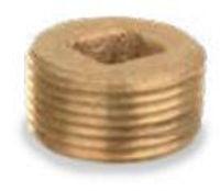 Picture of 2 inch NPT threaded bronze square countersunk head plug