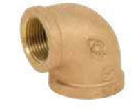 Picture of 1 ¼ inch NPT Threaded Lead Free Bronze 90 degree elbow