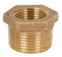 Picture of ¾ x ⅜ inch NPT threaded lead free bronze reducing bushing