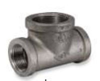 Picture of ¾ x 1-1/4 inch malleable iron class 150 bull head tee